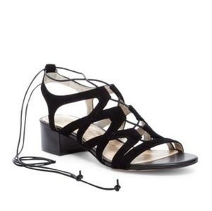 Sam Edelman Ardella lace suede black sandals